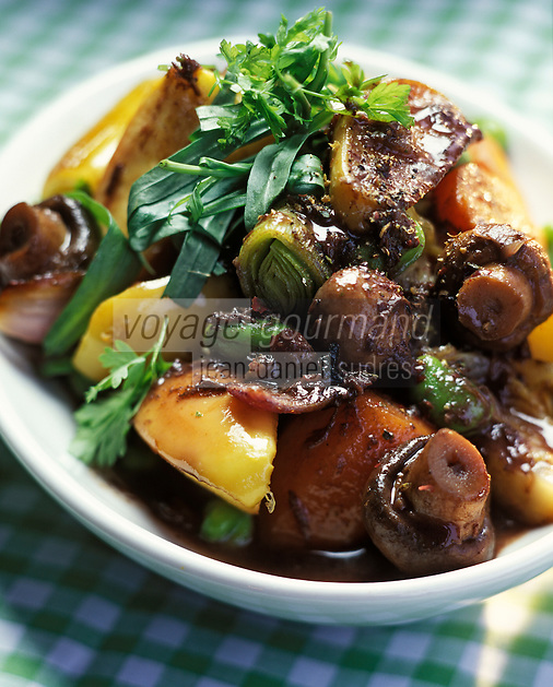Europe/France/Bourgogne : Bourguignon de légumes