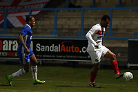 Raheem Hanley of Halifax Town and Chike Kandi of Dagenham  during FC Halifax Town vs Dagenham & Redbridge, Vanarama National League Football at The Shay on 13th March 2018