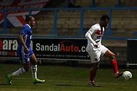 Raheem Hanley of Halifax Town and Chike Kandi of Dagenham  during FC Halifax Town vs Dagenham & Redbridge, Vanarama National League Football at The Shay on 13th March 2018