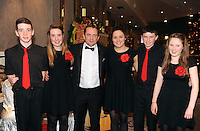 Clare Hurling Manager Davy Fitzgerald with Barry and Aoife Mahony, Sinead O'Sullivan, Eamon Shanahan and Eimear Quinlan, Crotta, at the Bord Gais Energy Munster GAA Awards in The Malton Hotel, Killarney at the weekend.<br /> Picture by Don MacMonagle<br /> PR photo from Munster Council<br /> Further info: ed Donnelly e;pro.munster@gaa.ie