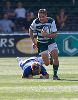 David Johnston of Ealing Trailfinders during the 2019/20 Pre Season Friendly match between Ealing Trailfinders and Bishop's Stortford at Castle Bar , West Ealing , England  on 24 August 2019. Photo by Alan  Stanford / PRiME Media images