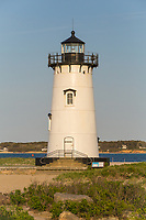 Edgartown Harbor Light protects mariners at the entrance to Edgartown Harbor and Katama Bay in Edgartown, Massachusetts on Martha's Vineyard.