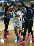 Pflugerville's Alexis Bryant goes up for a shot against Cedar Ridge Friday at Panther Gym.  The Raiders beat the Panthers 64-39.  (LOURDES M SHOAF for Round Rock Leader.)