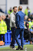 1st October 2017, Hillsborough, Sheffield, England; EFL Championship football, Sheffield Wednesday versus Leeds United; Thomas Christiansen manager of Leeds United FC and Carlos Carvalhal Manager of Sheffield Wednesday  shame hands after Sheffield Wednesday's 3-0 win