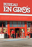 A Bureau en Gros retail store in Quebec City. Bureau en Gros is the French name of Staples in Quebec