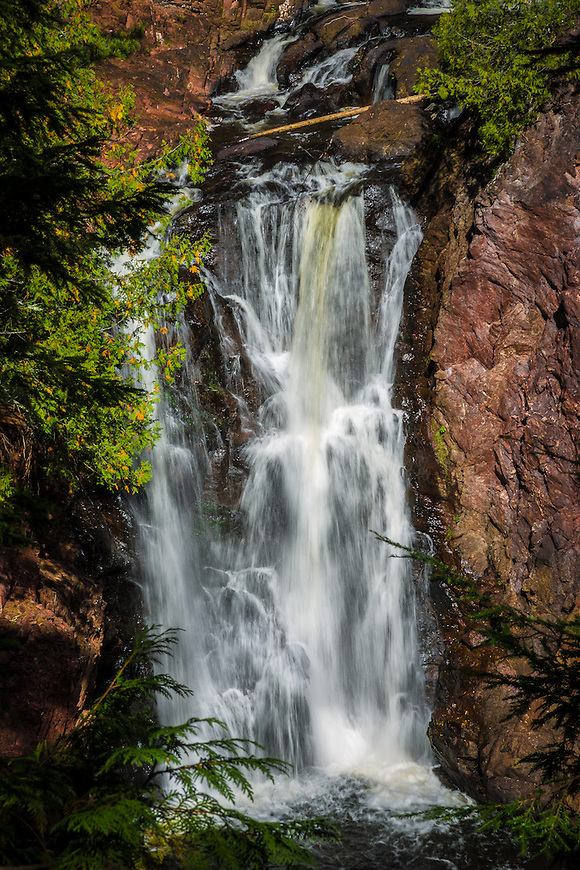Brownstone Falls in the Copper Falls State Park in Mellen, Wisconsin