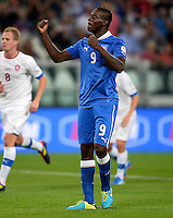 Fussball International  WM Qualifikation 2014   10.09.2013 Italien - Tschechien Jubel Italien;  Mario Balotelli