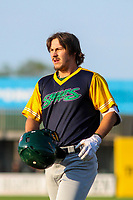 Beloit Snappers outfielder Austin Beck (22) during a Midwest League game against the Wisconsin Timber Rattlers on May 17, 2018 at Fox Cities Stadium in Appleton, Wisconsin. Beloit defeated Wisconsin 8-7. (Brad Krause/Four Seam Images)