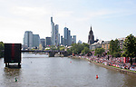 10 June 2006: Fans without tickets watch the game on a large screen television floating in the Main River. England played Paraguay at Commerzbank Arena in Frankfurt, Germany in match 3, a Group B first round game, of the 2006 FIFA World Cup.