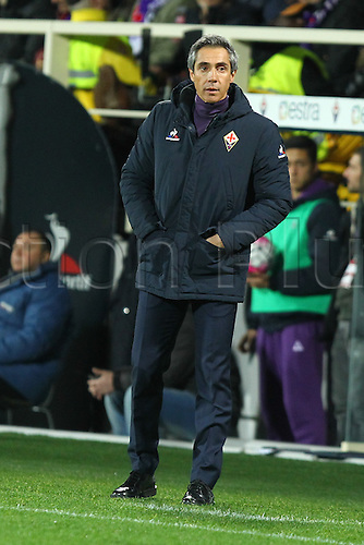 29.02.2016. Stadium Artemio Franchi, Florence, Italy.  Serie A football league. Fiorentina versus Napoli. Sousa Paulo, coach of fiorentina
