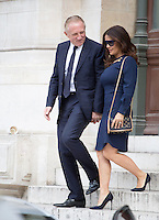 Salma Hayek &amp; Francois-Henri Pinault, CEO of Kering, attend Stella Mccartney Show at the  Paris Fashion Week 2016.<br /> October 5, 2015 Paris, France<br /> Picture: Kristina Afanasyeva