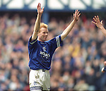 Erik Bo Andersen celebrates after scoring his first goal for Rangers in March 1996