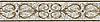 "9"" Alexander border, a hand-cut mosaic shown in polished Calacatta Tia, honed Gascogne Blue, Jura Grey, Jura Beige, and Montevideo by New Ravenna."