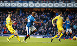 Alfredo Morelos cscores the opening goal for Rangers