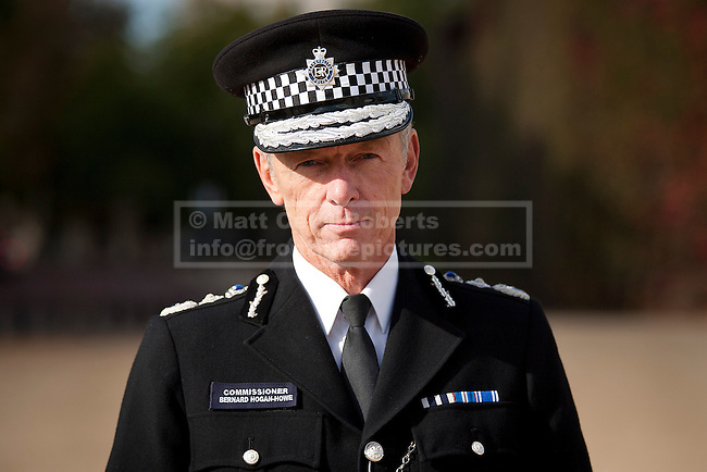 19/10/2011. LONDON, UK. Stock portrait of Metropolitan Police Commissioner Bernard Hogan-Howe. Photo credit: Matt Cetti-Roberts