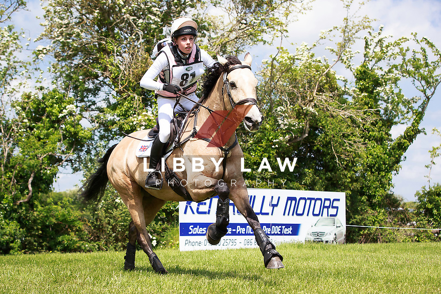 GBR-Bella Lloyd-Webber (JAZZIN ALONG) LAND ROVER CCI1* CROSS COUNTRY: 2016 IRL-Tattersalls International Horse Trial (Friday 3 June) CREDIT: Libby Law COPYRIGHT: LIBBY LAW PHOTOGRAPHY