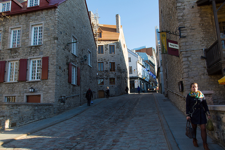 Lower Vieux Quebec, also known as Quartier Petit Champlain, Quebec City, Quebec, Canada