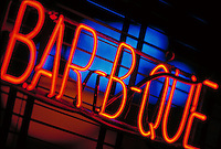 Neon barbecue sign.