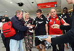 100615 Belgium Team Arrival in Cardiff