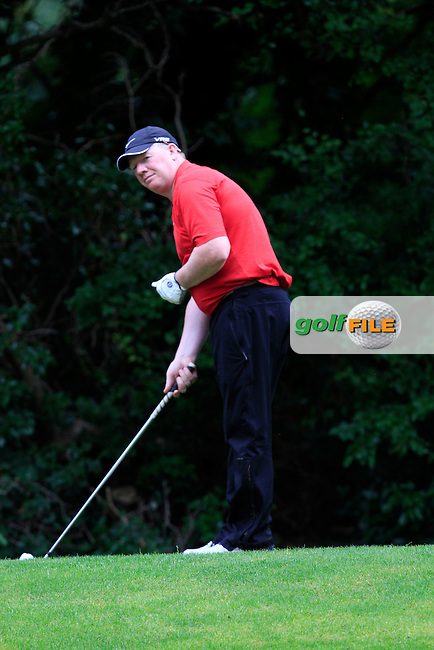 Paul Bray (New Forest) on the 8th tee during round 2 of the Leinster Mid Amateur Open Championship in Grange Golf Club on Friday 8th August 2014.<br /> Picture:  Thos Caffrey / www.golffile.ie