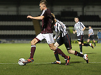 Dennis Prychenaco in the St Mirren v Heart of Midlothian Clydesdale Bank Scottish Premier League U20 match played at St Mirren Park, Paisley on 6.11.12.