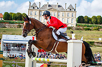 BEL-Cyril Gavrilovic rides Astucieux de Prade during the Showjumping for the CCIO4*-S FEI Nations Cup Eventing. 2019 FRA-Le Grand Complet at Le Haras du Pin. Sunday 11 August. Copyright Photo: Libby Law Photography