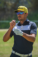 Rafael Cabrera Bello (ESP) has a chat before round 4 of the World Golf Championships, Mexico, Club De Golf Chapultepec, Mexico City, Mexico. 3/4/2018.<br /> Picture: Golffile | Ken Murray<br /> <br /> <br /> All photo usage must carry mandatory copyright credit (&copy; Golffile | Ken Murray)