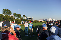Jason Day (AUS) looks over his tee shot on 16 during round 1 foursomes of the 2017 President's Cup, Liberty National Golf Club, Jersey City, New Jersey, USA. 9/28/2017.<br /> Picture: Golffile   Ken Murray<br /> ll photo usage must carry mandatory copyright credit (&copy; Golffile   Ken Murray)