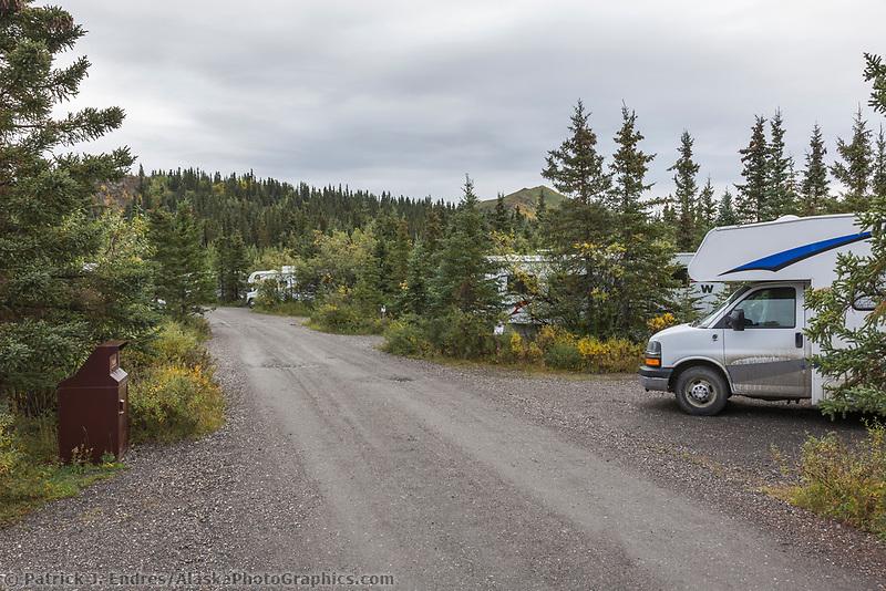 Teklanika campground, Denali National Park, Alaska.