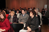 NO FEE PICTURES 15/3/12 The Your Rights Right Now campaign live streaming of Ireland's Universal Periodic Review live from Geneva, at Liberty Hall, Dublin. Picture:Arthur Carron/Collins