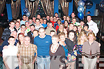 5980-5984.KEY TO THE DOOR: Rory Griffin (standing front centre) enjoying his 21st bash last Friday night in the Deacon, Tralee with his mom Aloysia and family and friends.