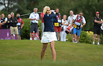 Scotland's Jenni Falconer tees off <br /> <br /> Celebrity Cup 2019 - Golf - Celtic Manor resort - Saturday 13th July 2019 - Newport<br /> <br /> © www.fotowales.com- PLEASE CREDIT IAN COOK