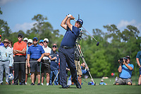 Phil Mickelson (USA) watches his tee shot on 3 during round 1 of the Houston Open, Golf Club of Houston, Houston, Texas. 3/29/2018.<br /> Picture: Golffile | Ken Murray<br /> <br /> <br /> All photo usage must carry mandatory copyright credit (© Golffile | Ken Murray)