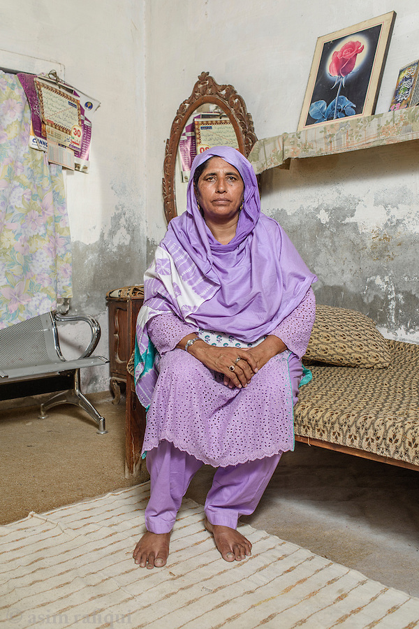 Appa Badrunnisa, Leader and local organiser of the women's wing of landless peasant movement (the Anjuman-e-Mazareen, Kalyana Estate, Chak 28, Okara.