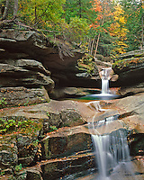 Sabbady Falls in White Mountains National Forest, New Hampshire