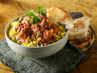 Lamb Bhuna curry Indian food stock pictures, photos fotos & images