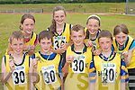 Ballymac athletes who won medals at the Community Games County finals in An Riocht Castleisland last Sunday were L-r: Patrick Dowling, Danny Pierce, Johnaton Keane, Cormac Lynch. Back row: Majella Shanahan, Emer Lynch, Anna Prenderville and Lil Reynolds.