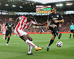 Stoke's Kurt Zouma clears his lines during the premier league match at the Britannia Stadium, Stoke on Trent. Picture date 9th September 2017. Picture credit should read: David Klein/Sportimage