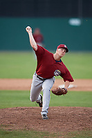 Mahoning Valley Scrappers relief pitcher Jonathan Teaney (30) delivers a pitch during the first game of a doubleheader against the Batavia Muckdogs on August 28, 2017 at Dwyer Stadium in Batavia, New York.  Mahoning Valley defeated Batavia 6-3.  (Mike Janes/Four Seam Images)