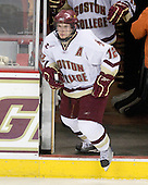 Ben Smith (BC - 12) - The Boston College Eagles defeated the University of Massachusetts-Amherst Minutemen 2-1 (OT) on Friday, February 26, 2010, at Conte Forum in Chestnut Hill, Massachusetts.
