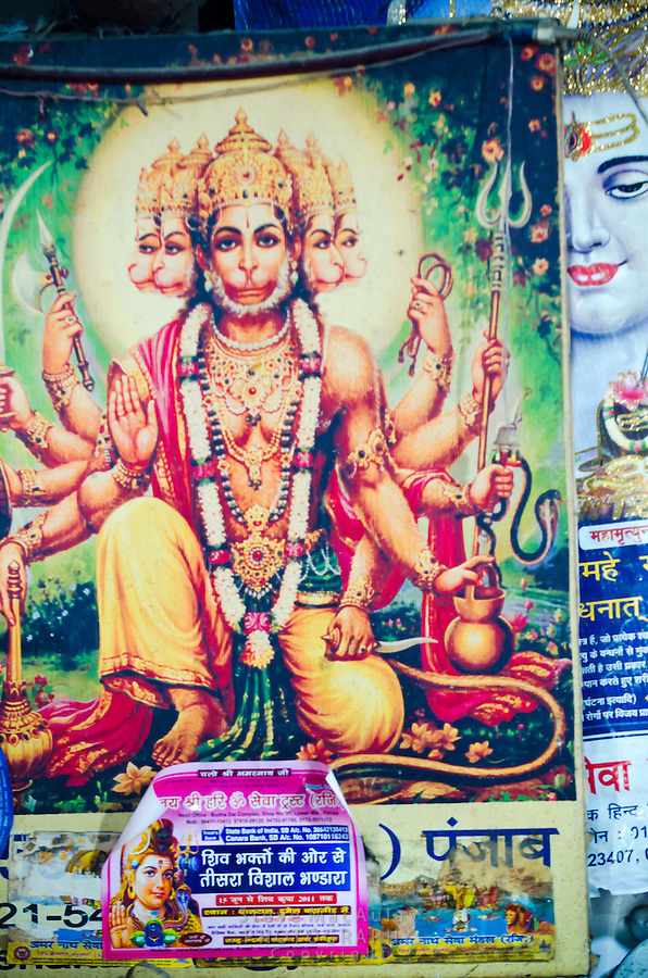 Hindu posters, Kashmir, India.