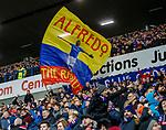 26.12.2019 Rangers v Kilmarnock: Rangers fans celebrate as Alfredo Morelos scores