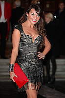 Lizzie Cundy arriving for the I Can't Sing Press Night, at the Paladium, London. 26/03/2014 Picture by: Alexandra Glen / Featureflash
