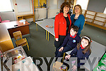 3rd Class students Paddy Falvey and Kaley Killeen in one of the classrooms  storm damaged last week. Hoping the new school promised will be soon with Mary Dillan, Deputy Principal,  Annette Dinneen, Principal on Wednesday