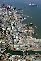 aerial photograph Central waterfront, Potrero Hill, Mission Bay,San Francisco, California