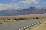 Highway leading into Great Sand Dunes National Park, Colorado. John offers private photo trips to Great Sand Dunes National Park and all of Colorado. All year long.