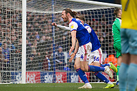 Will Keane of Ipswich Town celebrates the opening goal during Ipswich Town vs Rotherham United, Sky Bet EFL Championship Football at Portman Road on 12th January 2019