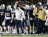 NWA Democrat-Gazette/CHARLIE KAIJO Bentonville West head coach Bryan Pratt gestures, Friday, November 8, 2019 during a football game at Bentonville West High School in Centerton.