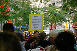 """Our econony could be more fair"" sign at the Occupy Wall Street Protest in New York City October 6, 2011."