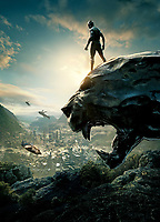 Black Panther (2018) <br /> Promotional art with Chadwick Boseman<br /> *Filmstill - Editorial Use Only*<br /> CAP/KFS<br /> Image supplied by Capital Pictures